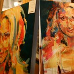 Scarlett Johansson pop art acrylic portrait painting