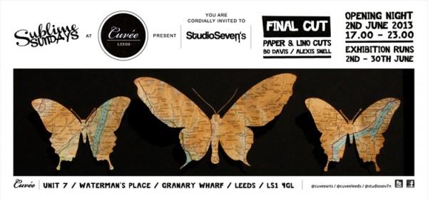 Final cut paper cut invite
