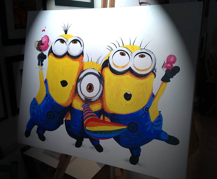 Despicable Me 2 Minions Artwork Minions Painting